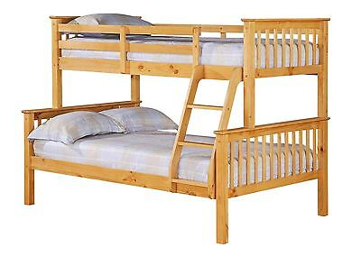 Porto Triple  Bunk Beds - 1x Single Bed 1 x 4ft Double Brand New - In Stock