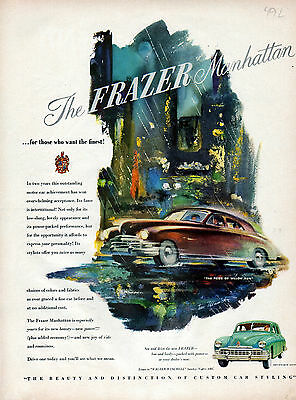 1949 Frazer Manhattan car ad -Listen to Walter Winchell Sunday-[-217