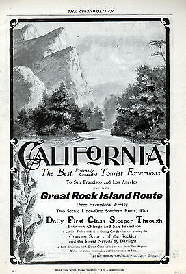1900 Railroad ad --Great Rock Island Line -San Francisco & Los Angeles -0-460