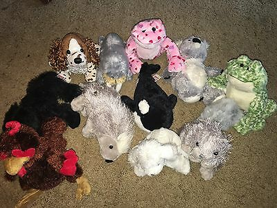 Webkinz Lot Of 11 PLUSH ONLY Whale Spaniel Koala Rooster Frogs And More