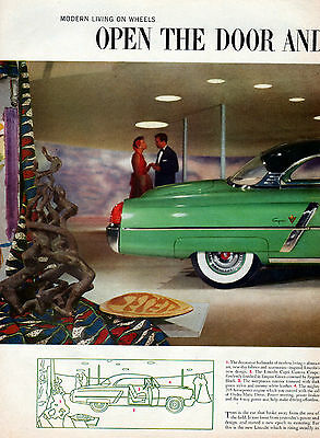 1953 Lincoln car ad 2 page  easily attached -521