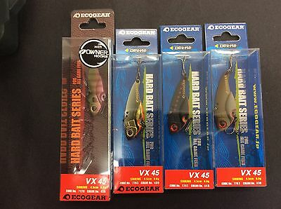 Ecogear VX 45 Blade Fishing Lure 4 Pack Brand New Free Postage within Australia