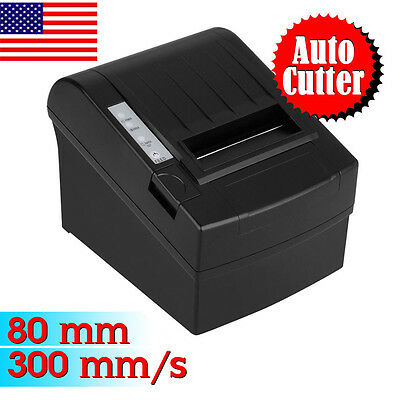 300mm/sec 80mm Auto-Cut Thermal Dot Receipt Printer USB Ethernet Network for POS