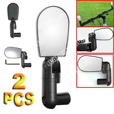 2 x 360 Degree Rotate Rear View Mirror Bicycle Road Bike Handlebar Adjustable