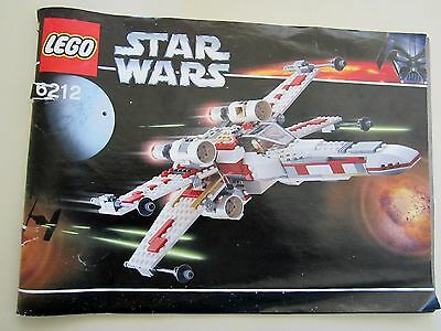LEGO Star Wars 6212 X-Wing Fighter Instruction Manual Booklet
