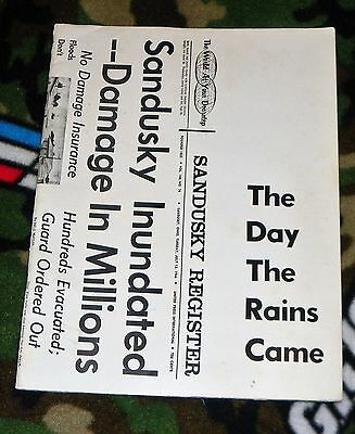 1966 Book THE DAY THE RAINS CAME Sandusky Ohio Flood 48 Pages Softbound