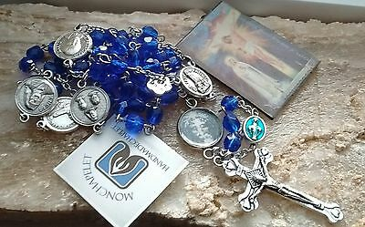 100th yr apparition at Fatima Rosary with Our Father image  fire polished glass