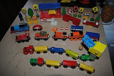 Thomas the tank engine Bulk Wooden train pcs and station and signs