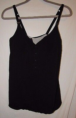 Gilligan & O'Malley Nursing  Black Tank Top Size L