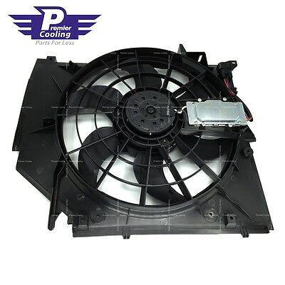 BRAND NEW RADIATOR COOLING FAN ASSEMBLY FOR BMW E46 325i 328i 330i
