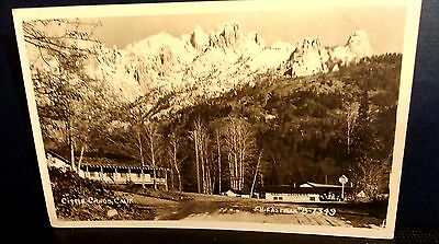 Castle Crags California S H Eastman Real Photo Postcard Shasta County