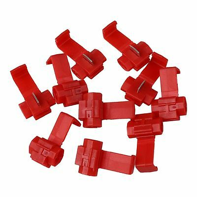 10pcs Lock Wire Connectors Terminals Quick Splice Car Electrical 22-18AWG