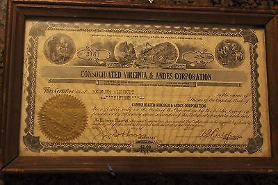 Consolidated Virginia and Andes Shares- 15 from 1932