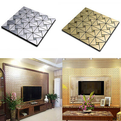 3D Diamonds Panels Wallpaper Sticker Tile Wall Background DIY Decor Panelling