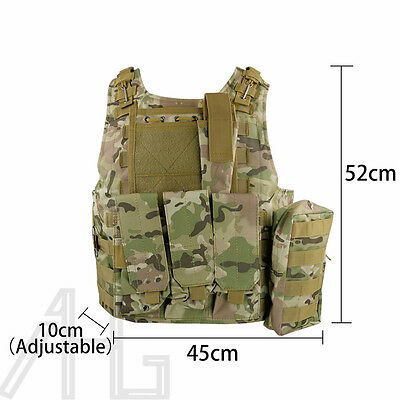 New Adjustable Tactical Military Vest Army Paintball Airsoft Combat Assault Vest