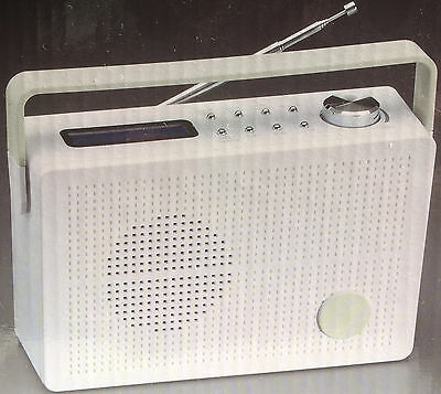 Rechargeable lithium battery DAB + digital FM radio LCD backlit display portable