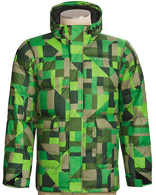 New Columbia Snowboard Ski Jacket Size Large L  Men  Down Insulated Green