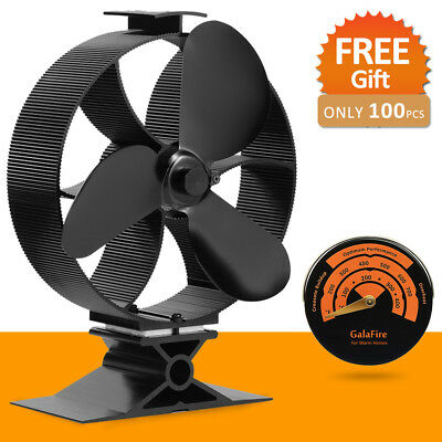 2017 New No Batteries Heat Powered Wood Stove Eco Fan Circulate Airflow 500m3/h