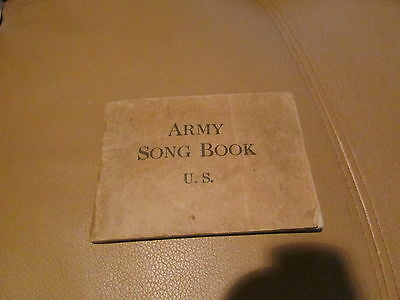 WW1 US Soldier's Song Book