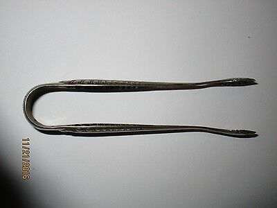 Antique 800 Silver  Sugar tongs no Claws