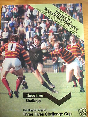 Fulham v Wakefield programme 15.2.81 cup