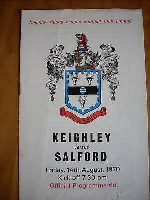 14.8.70 Keighley v Salford programme