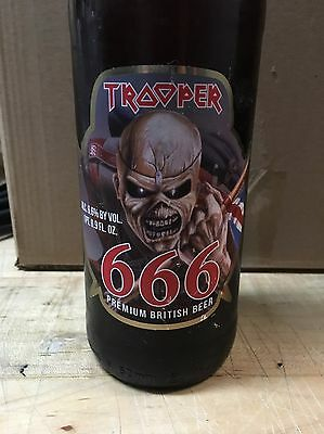 UNOPENED Iron Maiden Robinsons Trooper 666 Beer Bottle Limited Edition