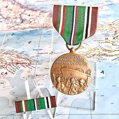 Wwii Us Army European African Middle Eastern Campaign Medal Ribbon Bar Eame Ww2