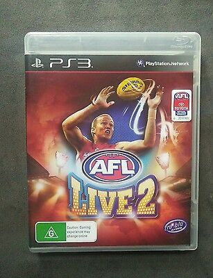 PlayStation 3 ps3 afl live 2 game sony