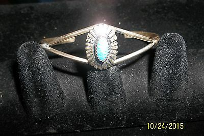 Vintage Sterling Cuff Bracelet with Lapis southwest native american style
