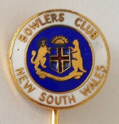 NSW Bowlers Club Pin Badge Rare Vintage (L5)