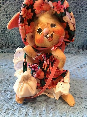 "New 1997 Annalee 7"" Easter Parade Spring Girl Bunny #0615"
