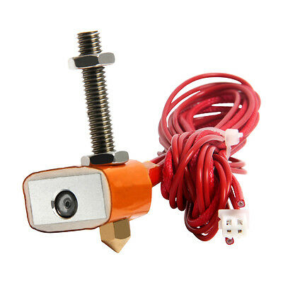 2017 Spare part Hotend Kit for MK8 extruder 1.75mm/0.3mm nozzle for 3D printer