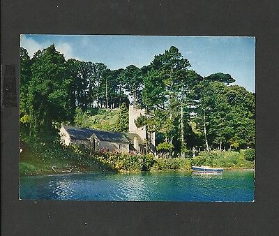 J.A.Dixon Colour Postcard Cornwall  St.Just-in-Roseland Church From The Creek