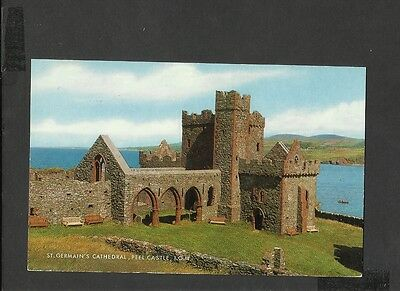 J Salmon  Colour Postcard St Germain's Cathedral Peel Castle Isle-of-Wight