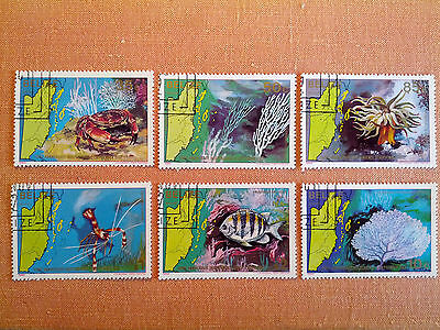 "Belize 1982 ""The Underwater World"" 6 Cancelled Stamps with Gum"