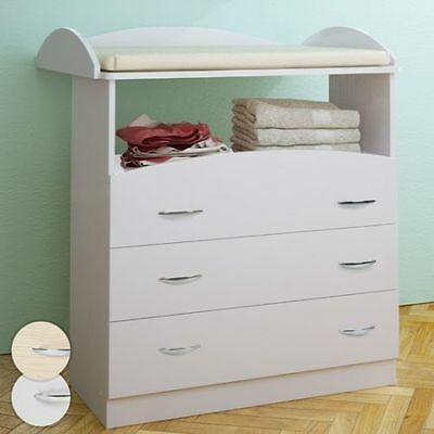 Baby Changing Table Unit Station Storage Drawer Nappy Change Nursery Furniture