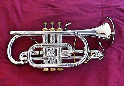 Custom Shop Professional Cornet ACR-835GS (Silver Plated Red Brass)