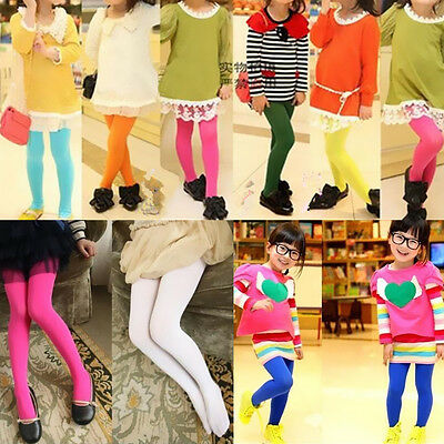 b608fb81f925b 1Pcs Candy Girls Kids Opaque Ballet Tights Pantyhose Dance Hosiery Stockings