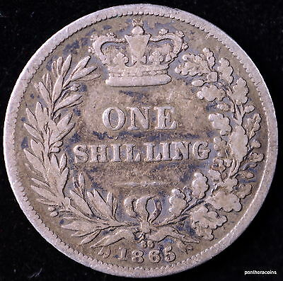 Great Britain One Shilling 1865 #a16