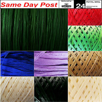 Raffia Colour Paper Ribbon 100m GREEN,decorating flowers gifts,crafts scrapbooks