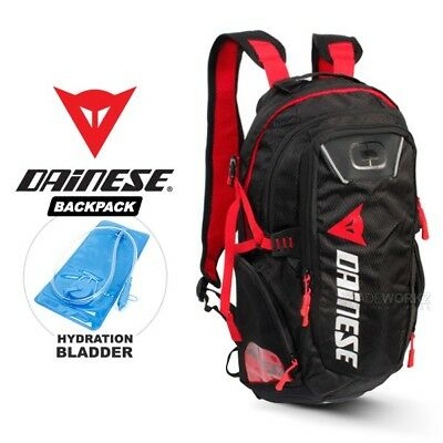 2L DAINESE Red Hydration Water Bag Pack Backpack Cycling Hiking Camping Bladder