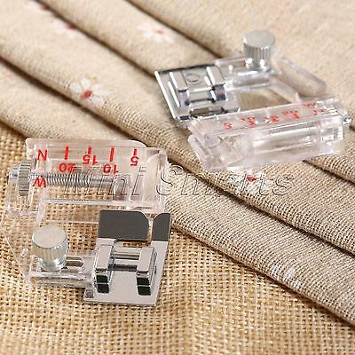 "1.73""*1.42"" Plastic Metal Bias Binder Presser Foot for Sewing Machine Adjustable"