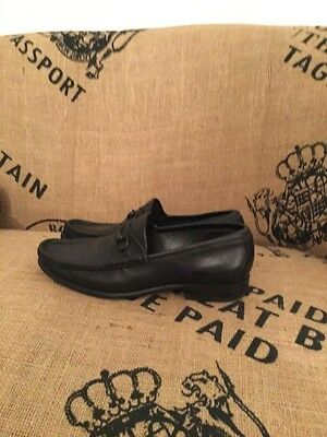 gucci snaffle loafers black italian leather size 38 1/2 uk 5 .5
