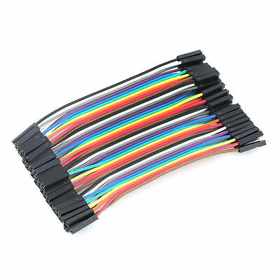 40pcs/Row 10cm 2.54mm Female to Female Wire Jumper Cable 1P-1P For Arduino SG