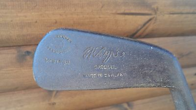 Hand Forged Hickory Shafted Mid Iron, Very Rare Club,