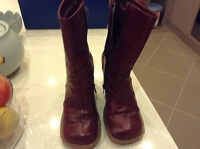 Red Ladies Boots Size 6