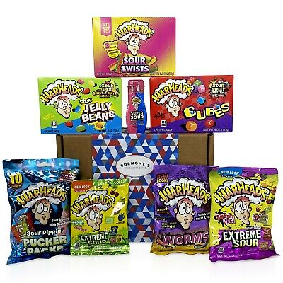Warheads Extreme Super Sour American Candy Selection Gift Box - 14 Packs - Gift