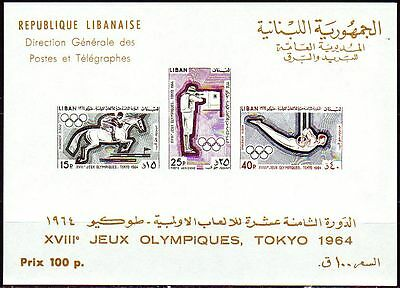 Libanon Lebanon 1965 ** Bl.27 Olympische Spiele Olympic Games