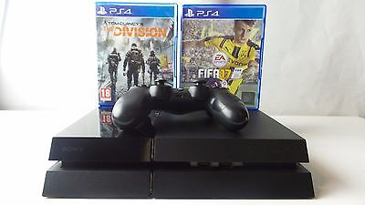 Sony Playstation 4 (PS4) -500GB -Black -Shiny Console -2 Games Included!